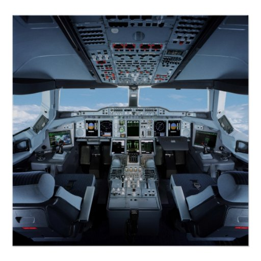 Airbus A380 - Cockpit HD Plakate