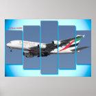 Airbus A380 für Plakat
