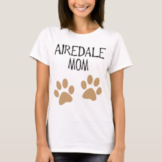 airdale Mamma große pawprints T-Shirt