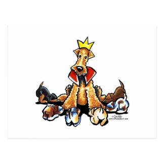 Airedale-König der Terrier Postkarte