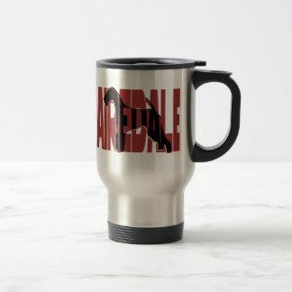 Airedale, König der Terrier, Silhouette Reisebecher