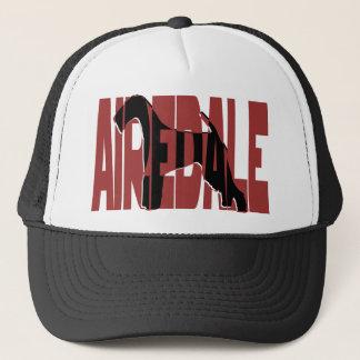Airedale, König der Terrier, Silhouette Truckerkappe