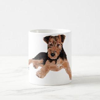 Airedale, Lakeland, Welpe Walisers Terrier Kaffeetasse