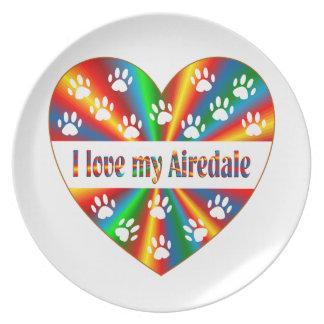 Airedale-Liebe Melaminteller