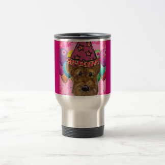 Airedale-Party-Hund Reisebecher