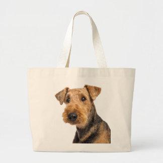 Airedale-Terrier Brown u. schwarze Jumbo Stoffbeutel
