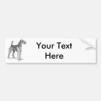Airedale-Terrier-elegantes Hundezeichnen Autoaufkleber