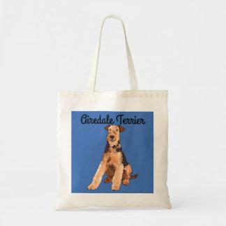Airedale-Terrier-illustrierte Taschen-Tasche Tragetasche