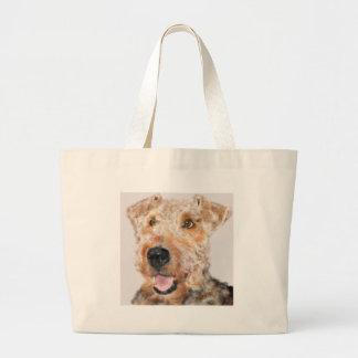 Airedale-Terrier Jumbo Stoffbeutel