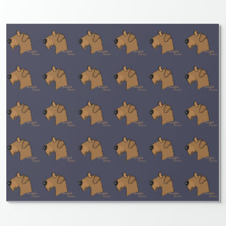 Airedale Terrier Kopf Silhouette Geschenkpapier