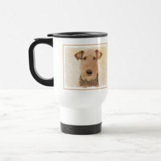 Airedale-Terrier-Malerei - niedliche ursprüngliche Reisebecher