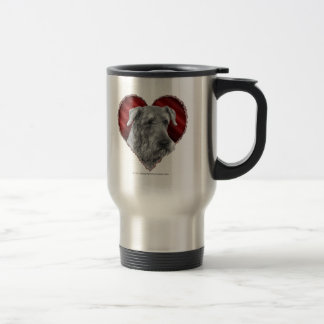 Airedale Terrier mit Herzen Reisebecher