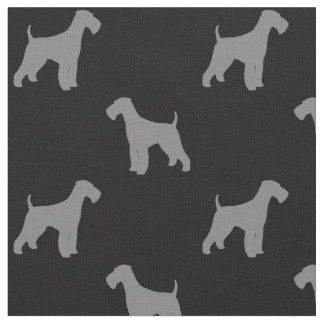 Airedale-Terrier-Silhouette-Muster Stoff