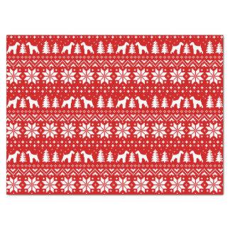 Airedale-Terrier-Silhouette-Weihnachtsmuster Seidenpapier