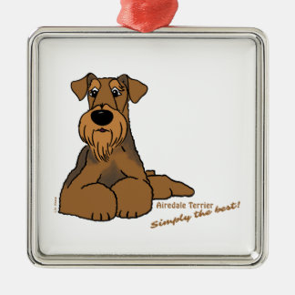 Airedale Terrier  – Simply the best! Silbernes Ornament