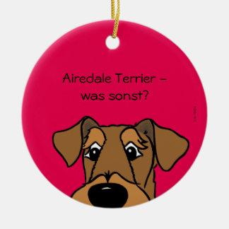 Airedale Terrier - was sonst? Keramik Ornament