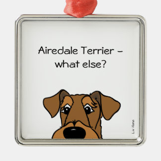 Airedale Terrier - what else? Silbernes Ornament