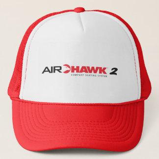 AIRHAWK 2 Rot-Fernlastfahrer-Hut Truckerkappe