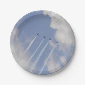 Airshow Militärjet-Bildung Pappteller