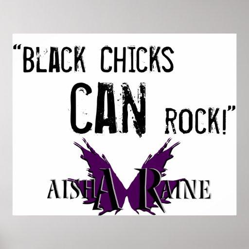 Aisha Raine Slogan-Plakat