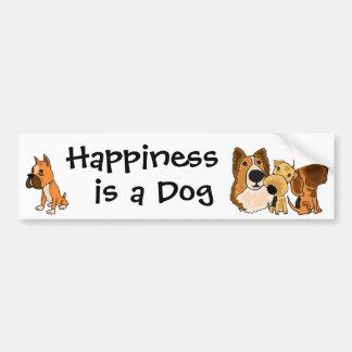AJ Glück ist ein HundeAutoaufkleber Autoaufkleber
