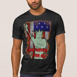 AJFA Flaggen-Schädel des Freiheits-Plakat-Shirts T-Shirt