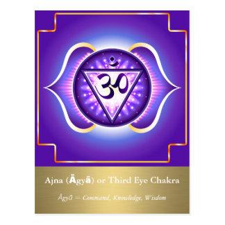 Ajna (Āgyā) oder drittes Auge Chakra Postkarte
