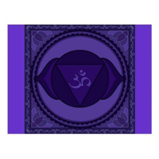 Ajna oder drittes Auge chakra Postkarte