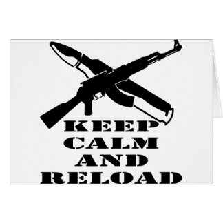 AK-47 behalten Ruhe und Umladen Karte