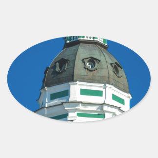 Akademie der Wissenschaften und Museum von Ovaler Aufkleber
