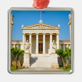 Akademie in Athen, Griechenland Silbernes Ornament