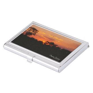 Akazien-Sonnenuntergang Visitenkarten Dose