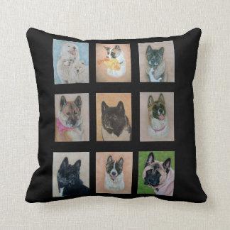 Akita-Hundesammlungsporträt-Realist-Kunstentwurf Kissen