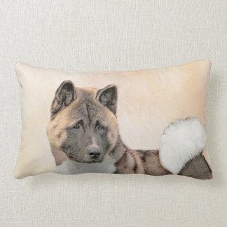 Akita-Malerei - niedliche ursprüngliche Hundekunst Lendenkissen