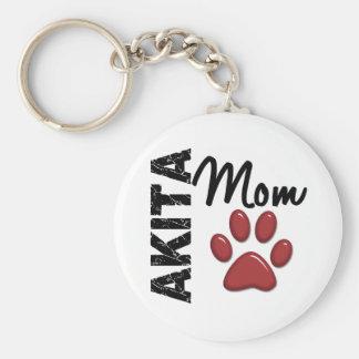 Akita-Mamma 2 Standard Runder Schlüsselanhänger