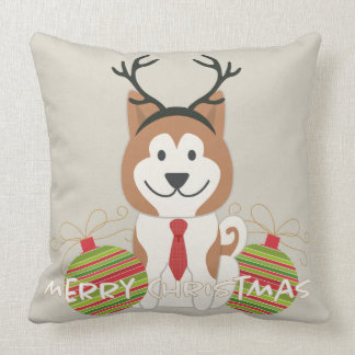 Akita-Ren-frohe Weihnachten Kissen