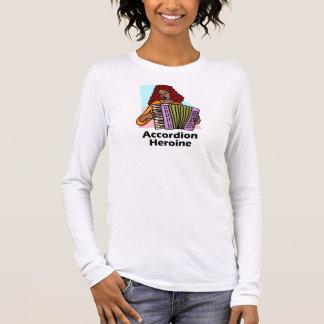 Akkordeon-Heldin Langarm T-Shirt