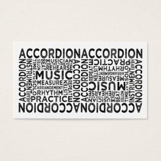 Akkordeon-Typografie Visitenkarte