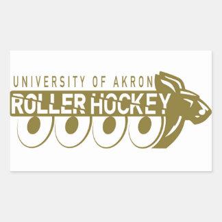 Akron-Rollen-Hockey-Aufkleber Rechteckiger Aufkleber