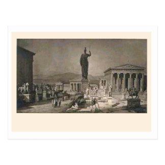 Akropolis, Athen, Künstlereindruck C. 1900 Postkarte