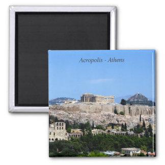 Akropolis - Athen Quadratischer Magnet