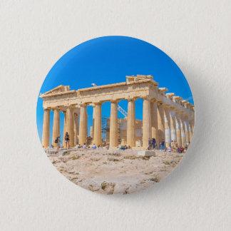 Akropolis in Athen, Griechenland Runder Button 5,7 Cm