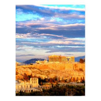 Akropolis von Athen Postkarte