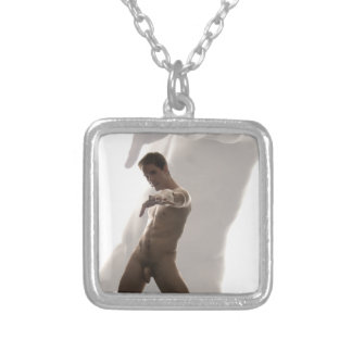 Akt der Kunst-18891-RA Halskette Mit Quadratischem Anhänger