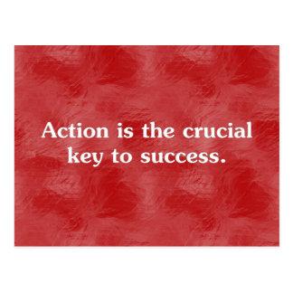 Aktion ist der Schlüssel zu Erfolg 2 Postkarte