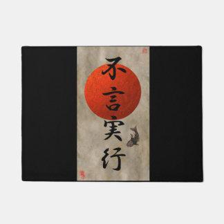 Aktionen sprechen Louder als Wort-Kanji-Tür-Matte Türmatte