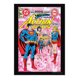 Aktions-Comicen #500 im Oktober 1979 Personalisierte Ankündigungskarte