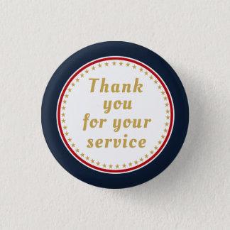 Aktiver Dienst-danken pensioniertes Runder Button 3,2 Cm