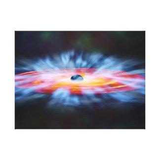 Aktiver Kern AGN NASAs Galaxie Leinwanddruck