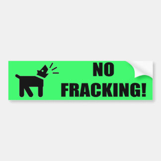 Aktivisten-Hund: Kein Fracking Autoaufkleber